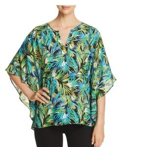 Status By Chenault Floral Print Flutter Sleeve Top